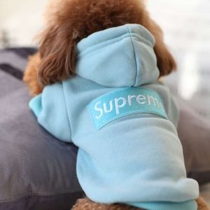 Tiffany blue dog hoodie (also available in black)